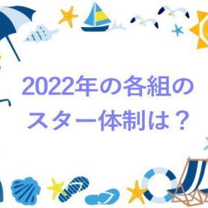 2022年の各組のスター体制は?