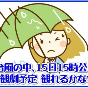 台風10号の中、15日15時公演観劇予定 観れるかな?