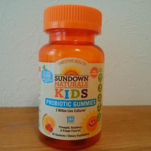 便秘がちなお子様におすすめなおいしいグミタイプのプロバイオティクス Sundown Naturals子供向けプロバイオティクスグミ