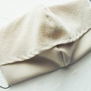 試作品 着物生地で不織布が挟み込めるポケット付きマスク