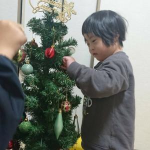 あおいくん☆クリスマスツリーの飾りつけをする