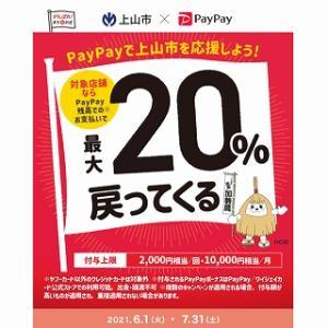 上山市×PayPay 20%還元キャンペーン 上山市で対象の店舗は?