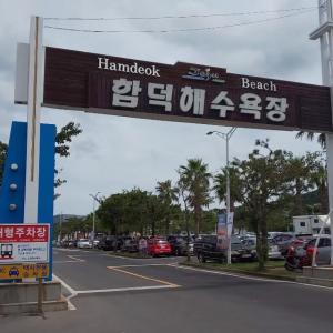함덕해수욕장 ~済州島で海水浴~