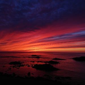日本一周中に出会った、日本の中で一番の夕日~黄金岬 in北海道 留萌市~