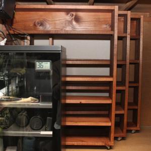 クワガタ管理の自作飼育棚