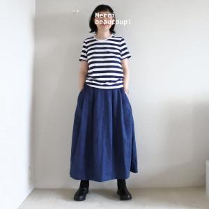 リネンのスカート着用画像と、OUTLET SALEの事。
