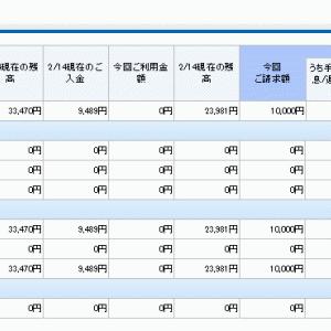2019年11月 借金支払い予定(仮)