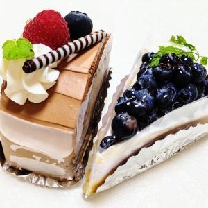 お台場 コバラヘッタ ブルーベリーたっぷりレアチーズケーキと生チョコロールケーキ