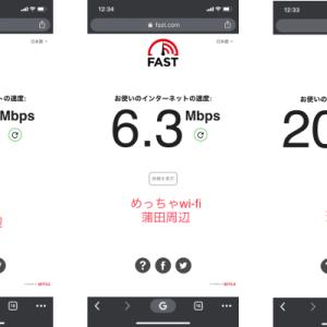 WiMAXとめっちゃWi-Fiの速度計測。ついでにマイネオも。2(川崎・蒲田)