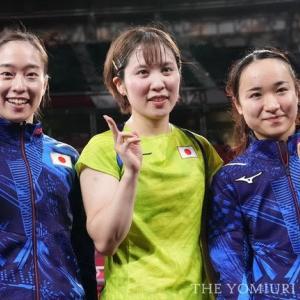 卓球女子団体、3大会連続のメダルとなる「銀」以上確定🏓東京2020オリンピック