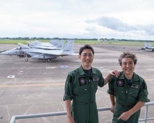 """""""ムロさん F-15で大空を飛ぶ✈︎""""『小泉孝太郎とムロツヨシの自由気ままに2人旅』💛空幕広報室"""
