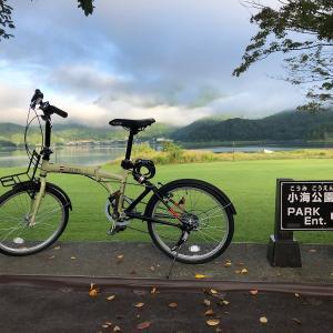 河口湖⭐️折り畳み自転車で⭐️ポイント探索❗️