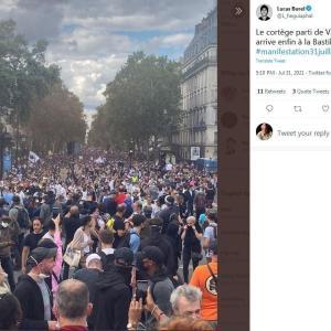 今回のフランスのデモも大盛況♡ / 目覚めているか否かの違い