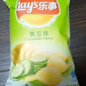 中国のきゅうり味ポテトチップス