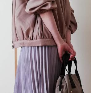 ☆お買い物レビュー☆and Me… ボリューム袖フードつきとろみブルゾン