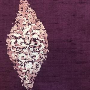 この時期にぴったりなコーディネートを同じ帯でいくつかやるよ① 藤色の流水模様の帯×紫紺の臈纈染の紬