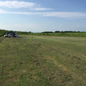 8月26日 飛行場の草刈り