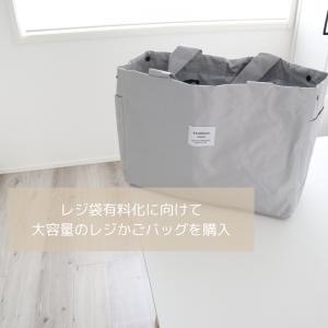 レジ袋有料化に向けて大容量の「レジかごバッグ」を購入。使ってみた感想
