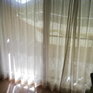 カーテンを変えました