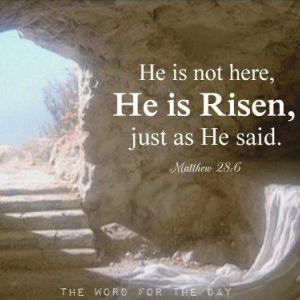 Happy Easter!: He is risen!