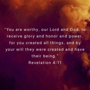 Created(Revelation 4:11)