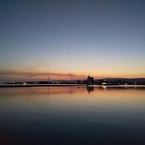 ベタ凪の七尾湾