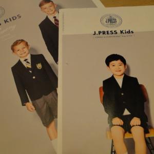 男児のお受験服 Jプレス デパートから姿を・・・小学校受験