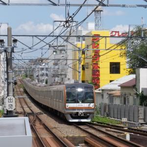 東横線自由が丘駅での撮影