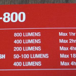 コスパのよいガシロン800ルーメンの自転車ライトを購入しました。