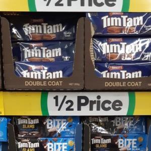 【吉報】TimTam半額($1.82)セール、ウールワースで16/Octまで