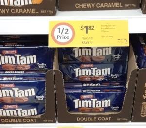 【ニュース】TimTam半額($1.82)セール、コールズで23/Jun/2020まで