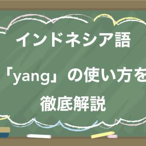 インドネシア語「yang」の使い方を徹底解説