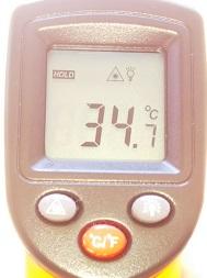 床の温度(陽だまりバッチリの時)
