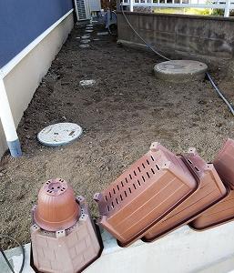 旧家との違い&庭を掃除