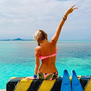 【母娘旅】沖縄の海の中がやっぱり最高!備瀬崎でシュノーケリング&フクギ並木サイクリング♡