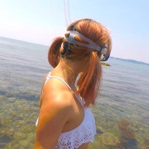 【森戸海岸】6月の海の中、シュノーケルで覗いてきたよ♡【めくるめく魚群‼︎】