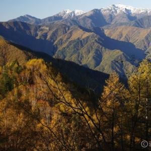 〔300名山〕櫛形山 ~白峰三山と富士山の大展望!紅葉を求めて早朝散歩~