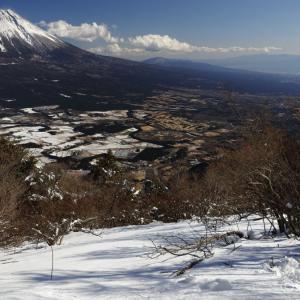 〔200名山〕毛無山 ~富士山の大展望と雪のパッチワーク~