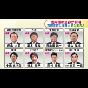 新内閣人事 速報