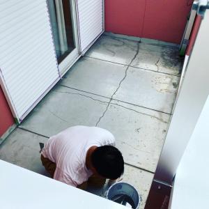 神戸市西区一戸建バルコニー防水工事実施