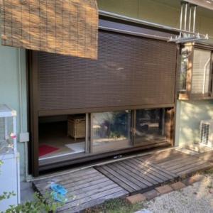 神戸市北区、かんたんマドリモシャッター雨戸を施工