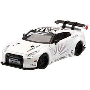 【販売中】(MINI GT)LB★WORKS Nissan GT-R R35 タイプ1 リアウイング バージョン 1+2 ホワイト(右/左ハンドル)(10月発売)