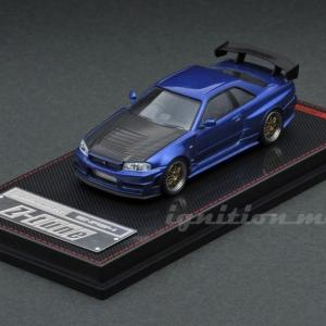 【予約受付中】(ignition model)Nismo R34 GT-R Z-tune Blue Metallic(1月発売)
