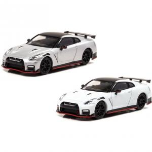 【明日発売】(CARNEL)日産 GT-R NISMO (R35) 2020 Ultimate Metal Silver/Brilliant White Pearl(2/27発売)