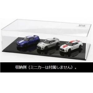 【販売中】(京商)1/64スケール アクリルケース&ベース(日産 GT-R 50th アニバーサリー ロゴ付)(1月発売)