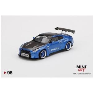 【予約受付中】(MINI GT)トイザらス限定 1/64 Pandem Nissan GT-R R35 GTウィング メタリックブルー ブルーホイール/カーボンボンネット(右ハンドル)(3/7発売)