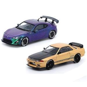 【予約受付中】(INNO MODELS)Toyota 86 2014 マジック パープル/スカイライン GT-R R32 ローズ ゴールド(香港限定)(5月発売)