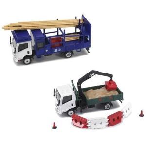【予約受付中】(TINY)いすゞ Nシリーズ 竹足場トラック/いすゞ Nシリーズ ショベルクレーン付きトラック(7月発売)