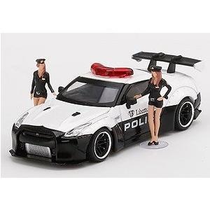 【予約受付中】(MINI GT)LB★WORKS Nissan GT-R R35 パトカー フィギュア2体付(8月発売)