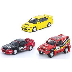 【予約受付中】(INNO MODELS)三菱 ランサー エボリューションIII/Nissan スカイライン GT-R R32/三菱 パジェロエボリューション(7月発売)